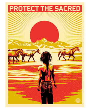 "Shepard Fairey ""Protect The Sacred"""