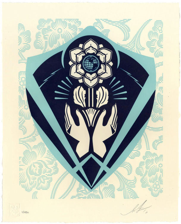 Shepard Fairey - Respect and Justice Letterpress