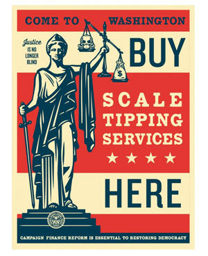 Shepard Fairey Scale Tipping Services