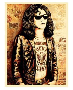 "Shepard Fairey ""Tommy Ramone"" (Red)"