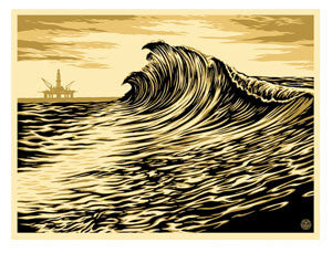 "Shepard Fairey ""Water Is The New Black"""