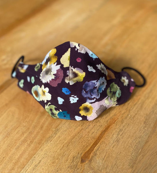Face Mask - Plum Floral Silk