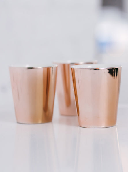 Rose Gold Cup by JS Ceramics