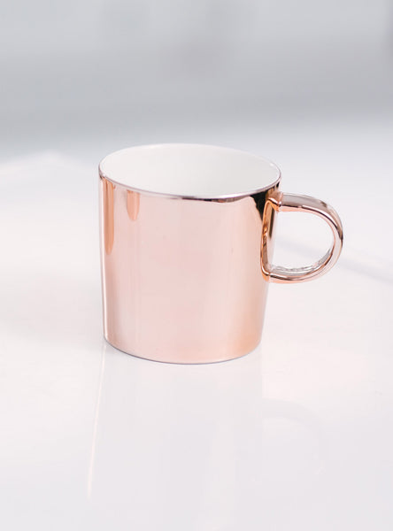 Rose Gold Mug by JS Ceramics