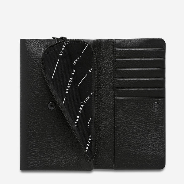 Audrey Wallet - Black Pebble by Status Anxiety