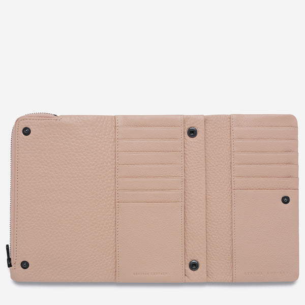 Audrey Wallet - Pebble Dusty Pink by Status Anxiety