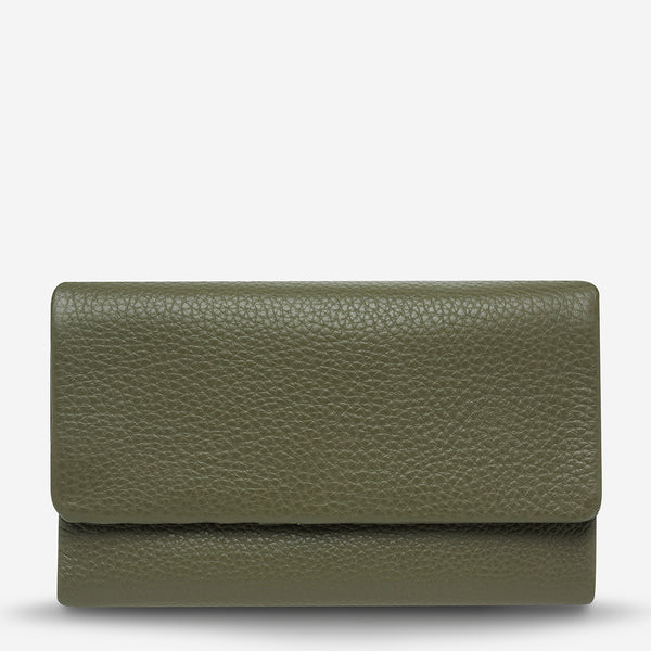 Audrey Wallet - Khaki Pebble by Status Anxiety