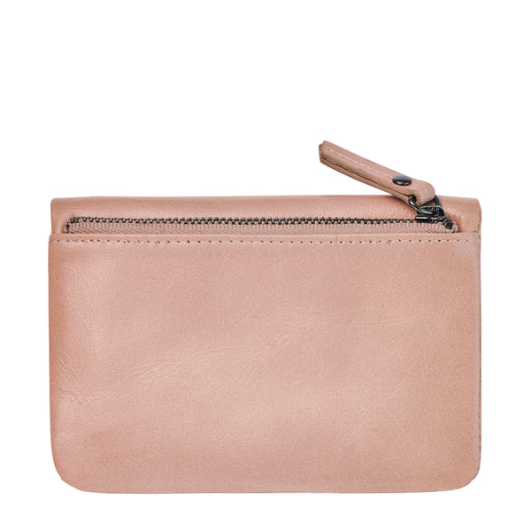 Is Now Better Wallet by Status Anxiety in Dusty Pink