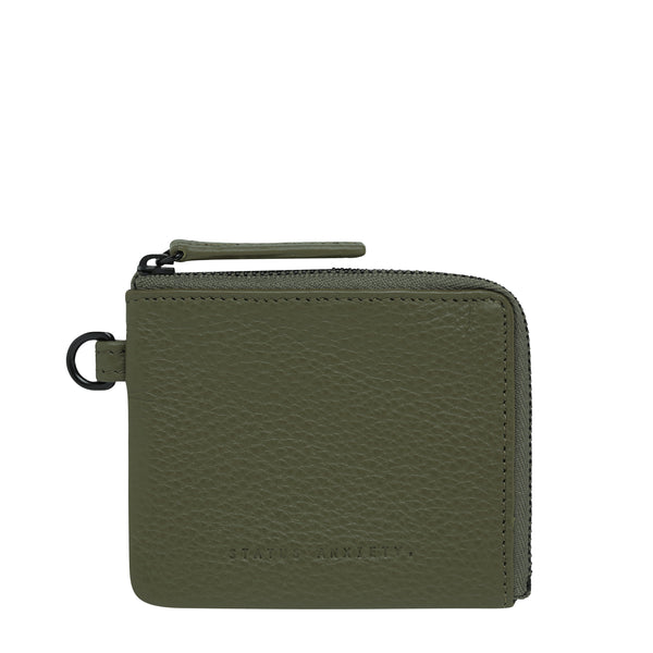 Part Time Friends Wallet by Status Anxiety in Khaki