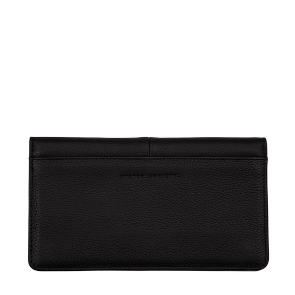 Triple Threat Wallet by Status Anxiety in Black