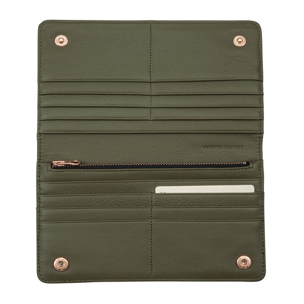Triple Threat Wallet by Status Anxiety in Green