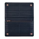 Triple Threat Wallet by Status Anxiety in Navy Blue