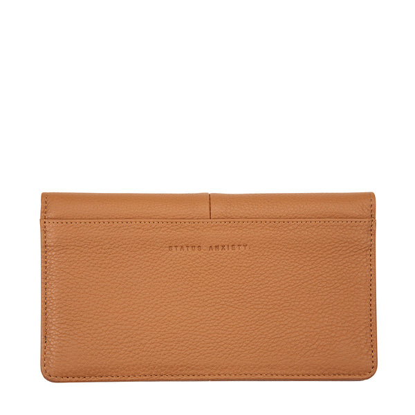 Triple Threat Wallet by Status Anxiety in Tan