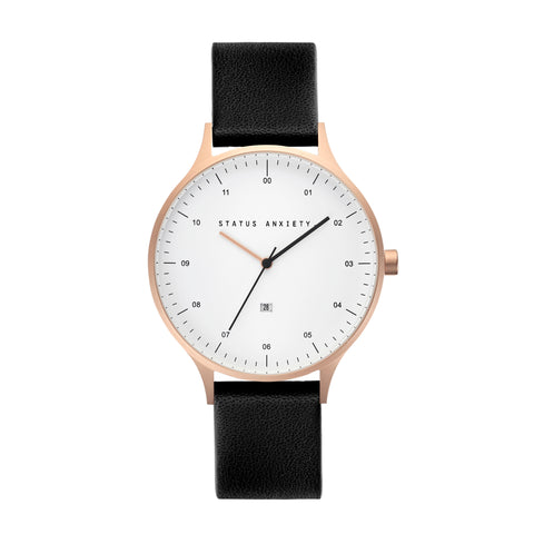 products/status-anxiety-watch-inertia-brushed-copper-white-face-black-strap-front.jpg