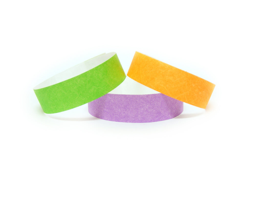19mm Plain Tyvek Wristbands