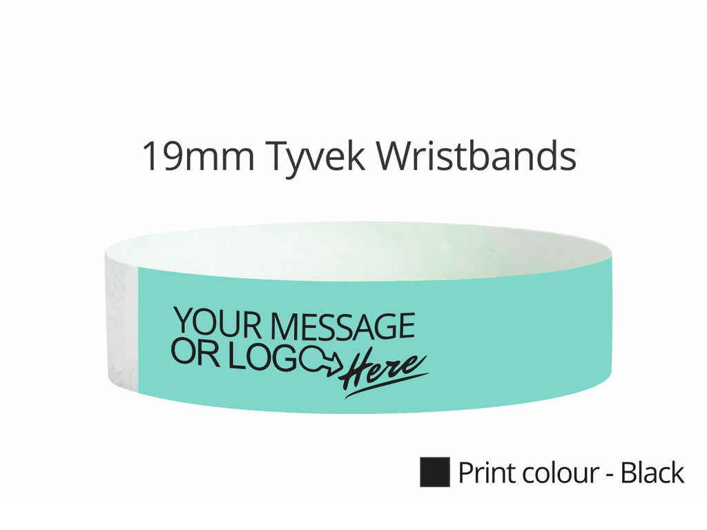 19mm Custom Printed Wristbands
