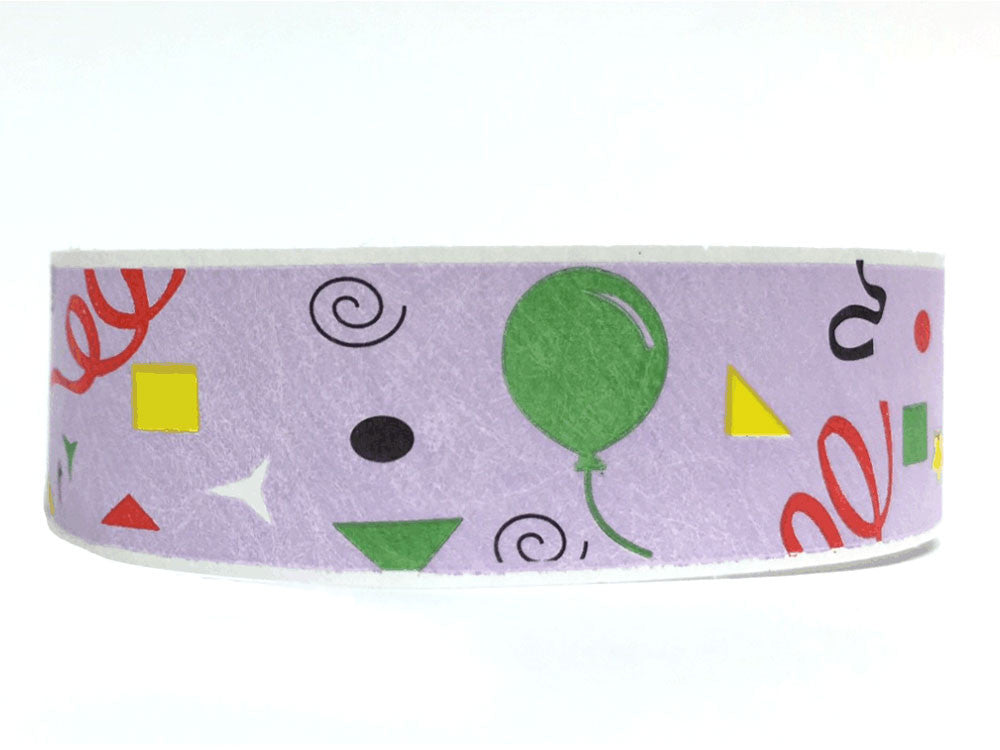 19mm Patterned Tyvek Wristbands