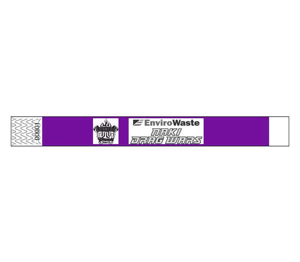 19mm Custom Printed Plain Tyvek Wristbands