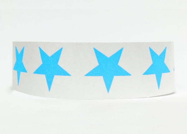 100x Blue Stars 19mm Tyvek Wristband