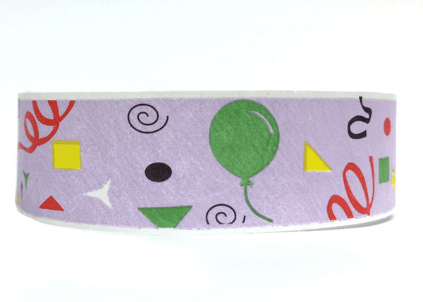 100x Party 19mm Tyvek Wristband