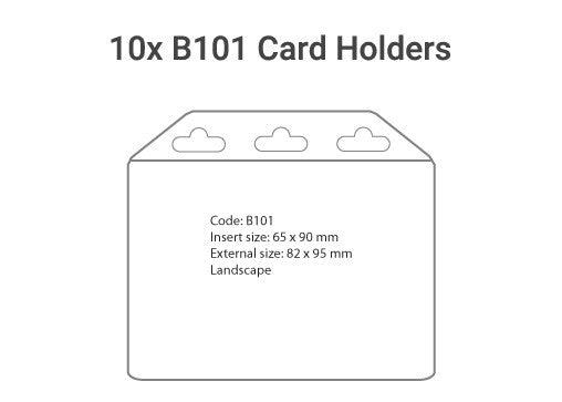 10x B101 Plastic Card Holder