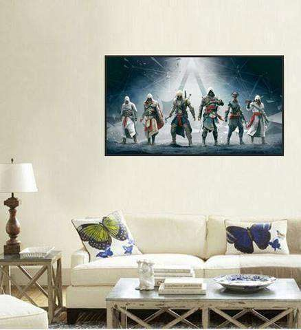 Angels Night Moon Wings A Hug Canvas Wall Poster