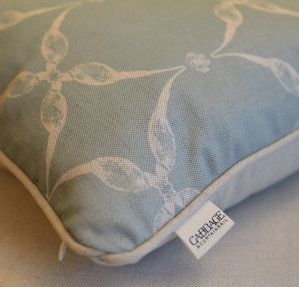 Pheasant & Feather Cushion | Duck Egg