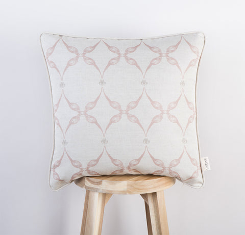 Pheasant & Feather Cushion | Blush
