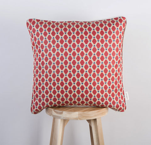 Cumbrian Sheep Cushion| Scarlett Red & Navy