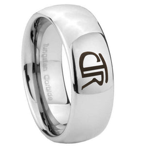 8mm CTR Mirror Dome Tungsten Carbide Anniversary Ring