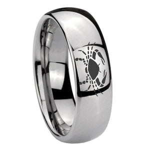 10mm Cancer Zodiac Horoscope Mirror Dome Tungsten Wedding Engagement Ring