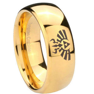10mm Zelda Skyward Sword Dome Gold Tungsten Carbide Men's Ring