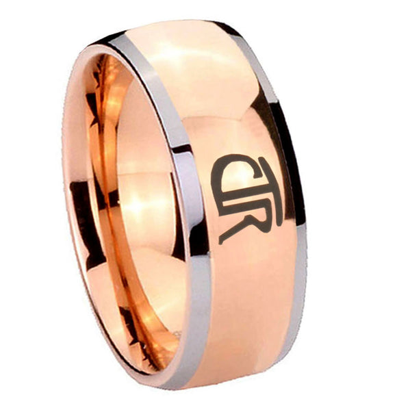 8mm CTR Dome Rose Gold Tungsten Carbide Men's Engagement Band