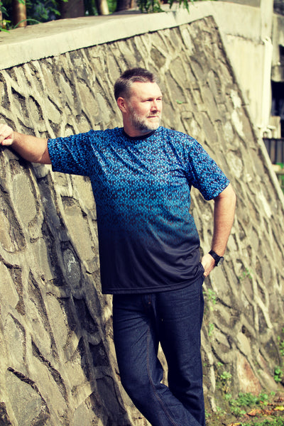 BLUE HUES Plus size men's clothing collection