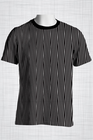 Plus Size Men's Clothing Tight Lines T-shirt AA0269