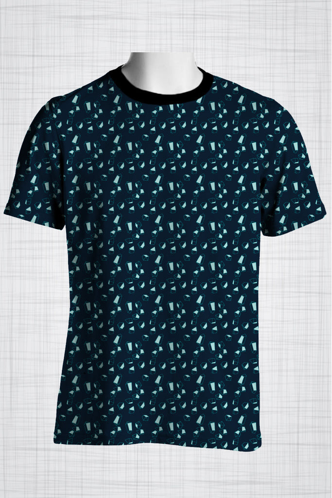 Plus Size Men's Clothing, Blue gems t-shirt AA0422