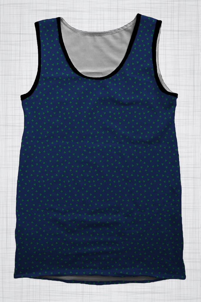 Plus Size Men's Clothing Three Leaf Clover singlet AA0733