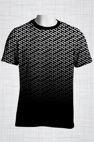 Plus Size Men's Clothing Black & White 3D print AA0844