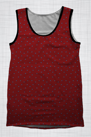 Plus Size Men's Clothing Blue Birds singlet BB0011