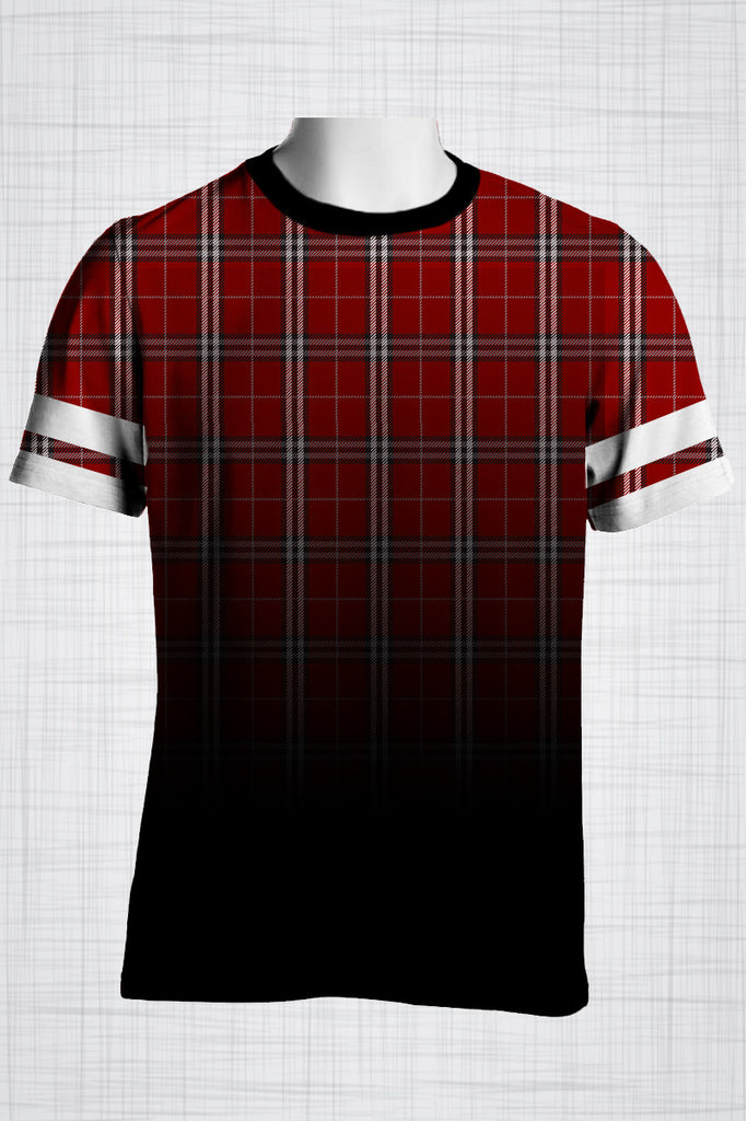 Plus Size Men's Clothing Red Plaid t-shirt BB0143