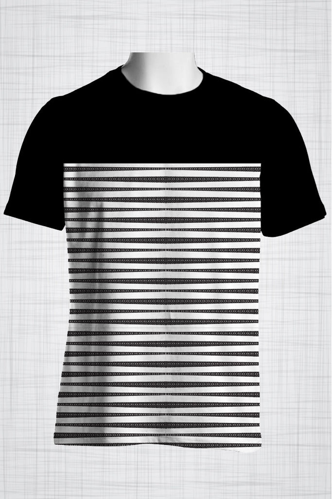 Plus Size Men's Clothing Black & White stripe print BB0249