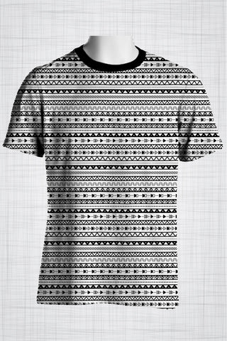 Plus Size Men's Clothing Bold B&W Tribal t-shirt