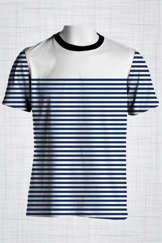 Plus Size Men's Clothing Bold Nautical Stripes
