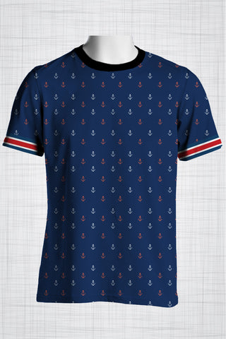 Plus Size Men's Clothing Nautical Anchors t-shirt