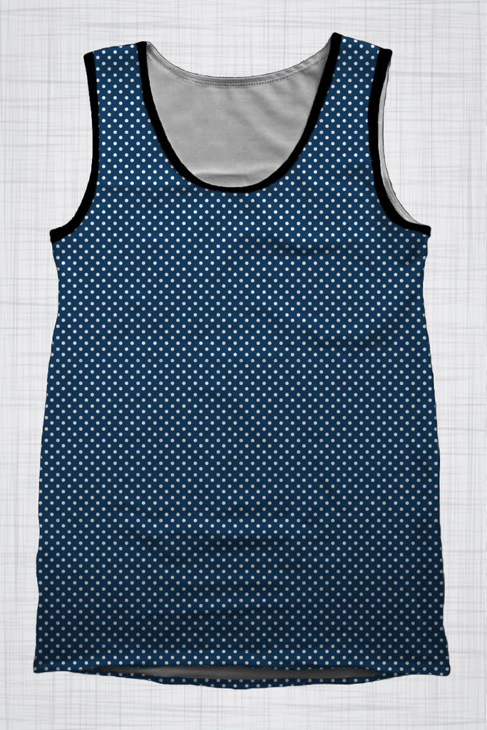 Plus Size Men's Clothing Nautical Polka Dots singlet