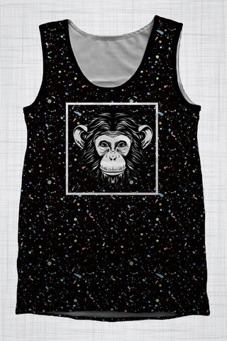 Plus Size Men's Clothing Cheeky Monkey singlet