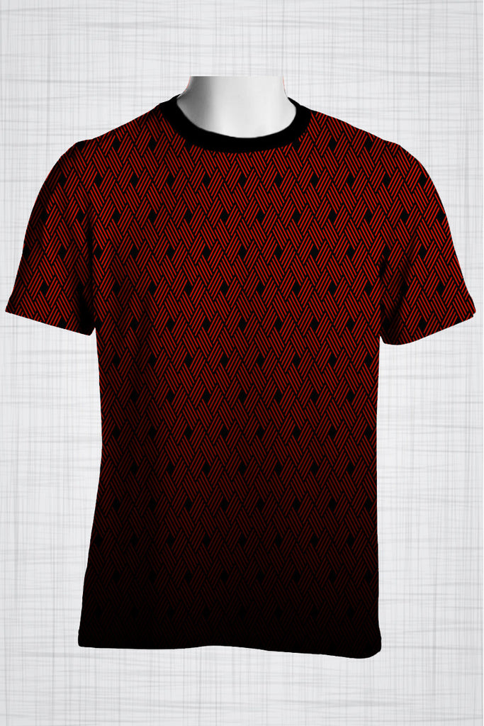 Plus Size Men's Clothing Red Weave t-shirt