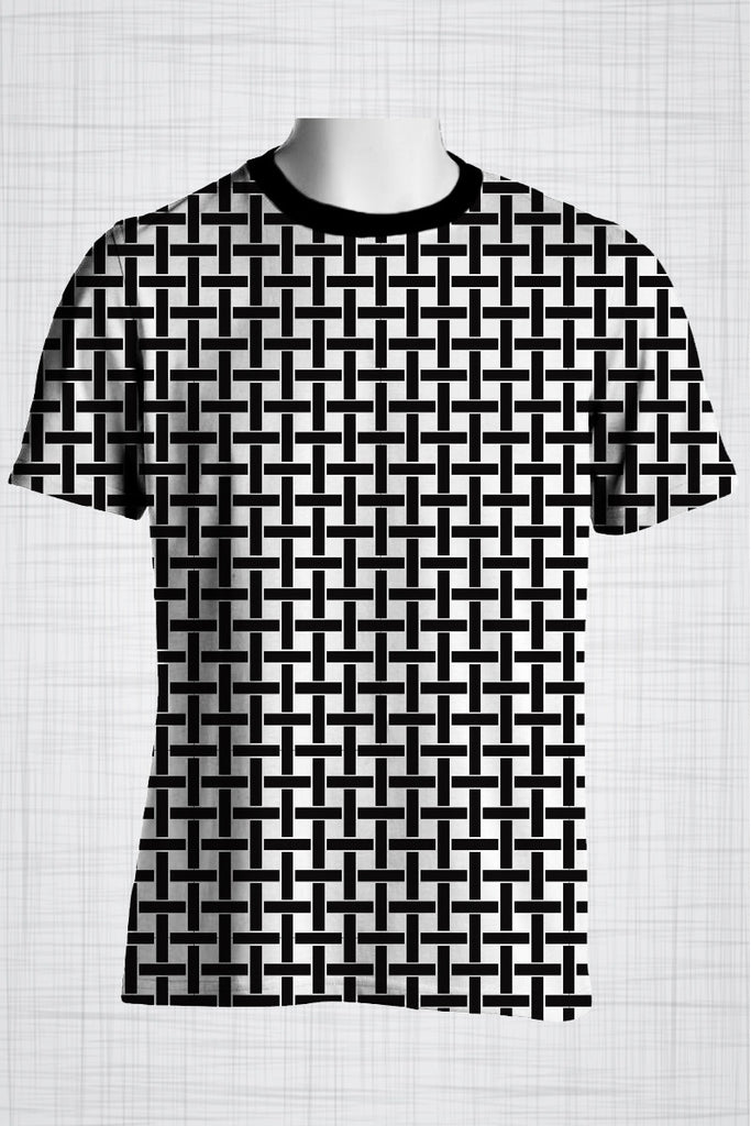 Plus Size Men's Clothing Weave T-shirt  FF0026