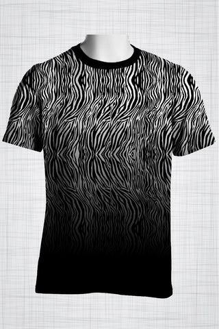 Plus Size Men's Clothing Zebra t-shirt