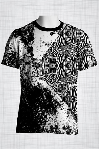 Plus Size Men's Clothing Grunge Zebra t-shirt